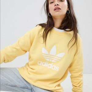 Adidas women's yellow crewneck